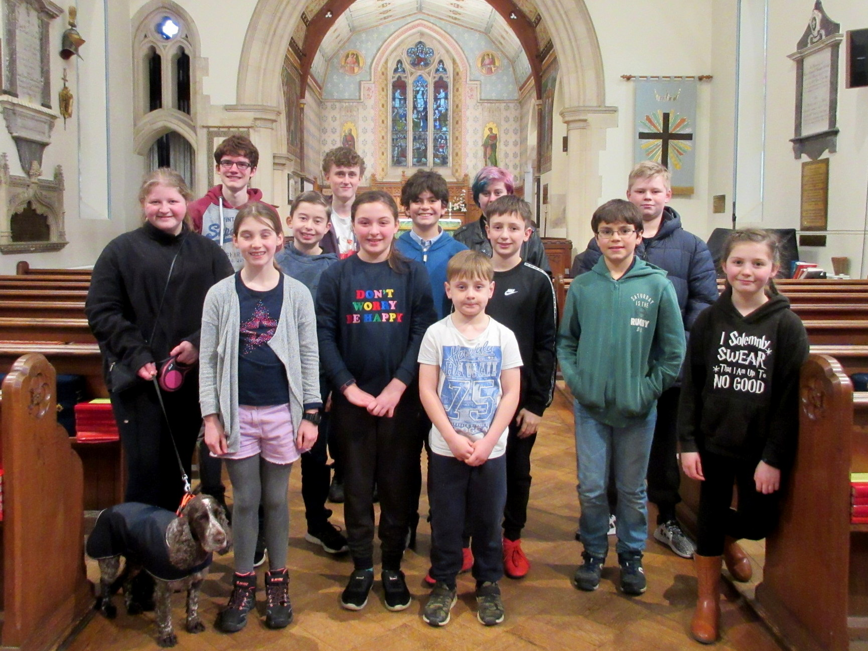 Youth ringers during the 2020 February half-term outing.